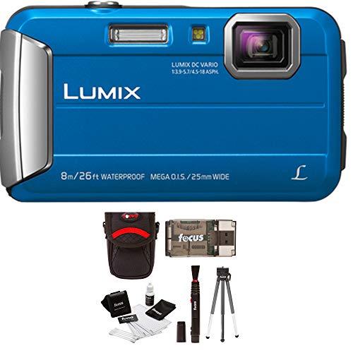 Panasonic DMC-TS30A LUMIX Active Lifestyle Tough Camera (Blue) + Swiss Gear Case (Waterproof Panasonic Camera Video)