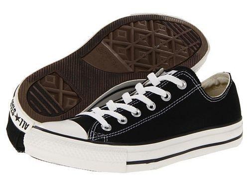 - Converse Unisex Chuck Taylor All Star Low Top Classic Black Sneakers - 7.5 B(M) US Women / 5.5 D(M) US Men