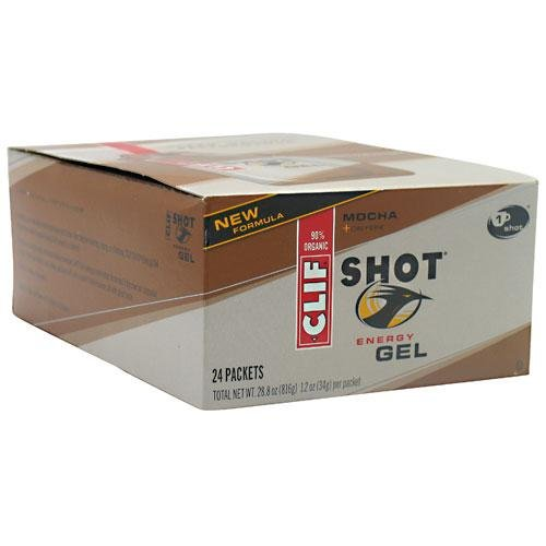 Clif Shot Gel Mocha, 1.2 oz packet, 24-Count