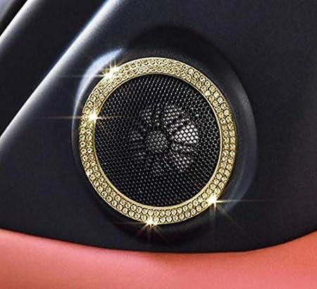 Silver, Range Rover 2013-2018 NIUHURU Car Interior Trim Bling Accessories Horn Ring Rhinestone Decals Sticker fit for Land Rover Evoque Discovery Range Rover Freelander