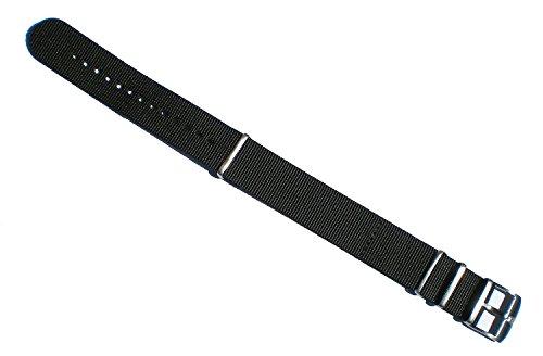 Luminox BLACK 4-Ring Nylon Watch Band 23/24 mm Series 3900/3050/3080