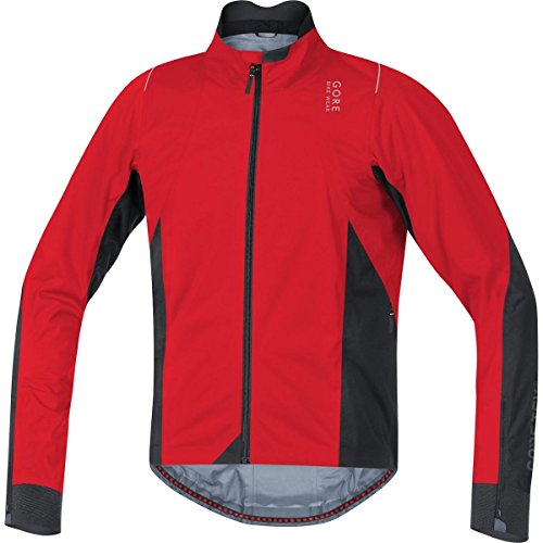 Gore Bike WEAR, Men´s, Slim fit Road Cyclist Jacket, Waterproof, Oxygen 2.0 Gore-TEX Active, Size S, Red/Black, JGOXYA