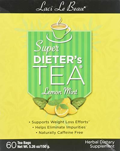 (Lemon Mint variety of Laci Le Beau Laci Super Dieter's Tea, 60 Count Tea Bags (Net Wt. 5.26 oz))