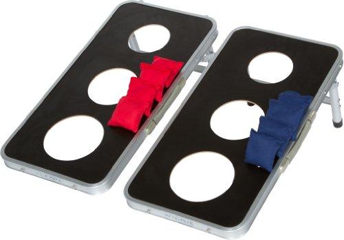 Trademark Innovations 3-Hole Aluminum Frame Cornhole Bean Bag Toss Set by Tailgate360