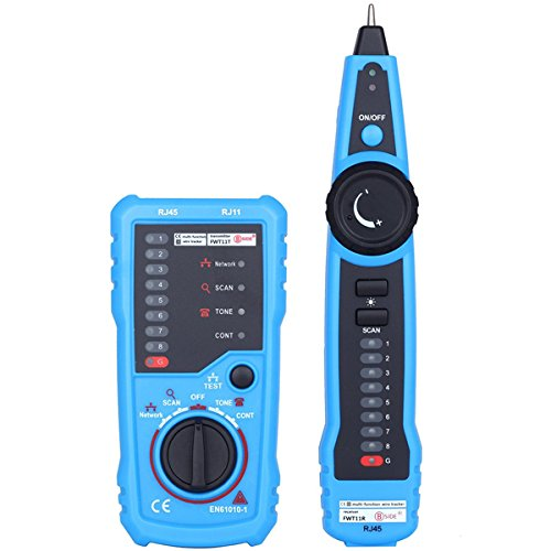 - BSIDE FWT11 RJ11 RJ45 Wire Tracker Tracer Telephone Ethernet LAN Network Cable Continuity Tester Detector