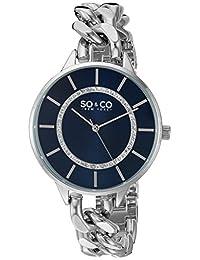 SO & CO New York Women's 5225.2 SoHo Quartz Stainless Steel Link Bracelet Watch
