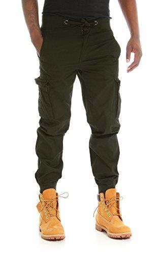 9472c3ae3ce PJ Mark Men s Light Twill Slim Fit Cargo Jogger Pants-Olive-36 32