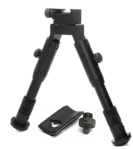 JINSE 6.2-6.7 Inches Tactical Bipod Picatinny Rail Swivel Foldable with ()