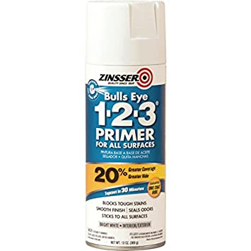 13 Oz Zinsser Bulls Eye Oil-Based 123 Aerosol Primer Sealer - White 6/Cs - - Amazon.com
