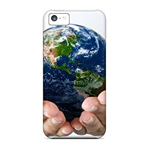 New Premium Dana Lindsey Mendez Earth On Hand Skin Case Cover Excellent Fitted For Iphone 5c