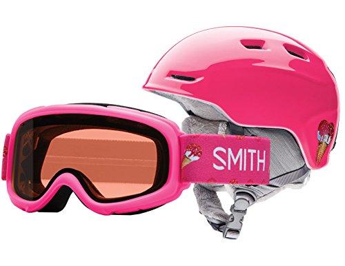 Smith Optics Unisex Zoom Jr / Gambler Combo Helmet And Goggles, Pink Sugarcone - OS