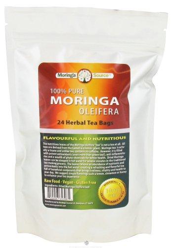 Moringa Source Oleifera Tea Bags, Natural, 24 Count