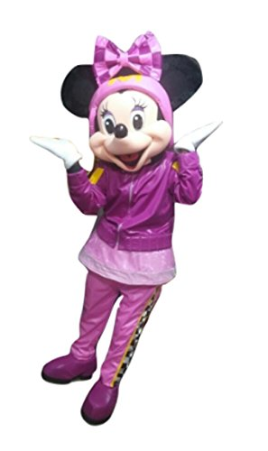 Mascot Mouse Costume Adult (Minnie and The Roadster Racers Mascot Costume Mouse Party Character Halloween)