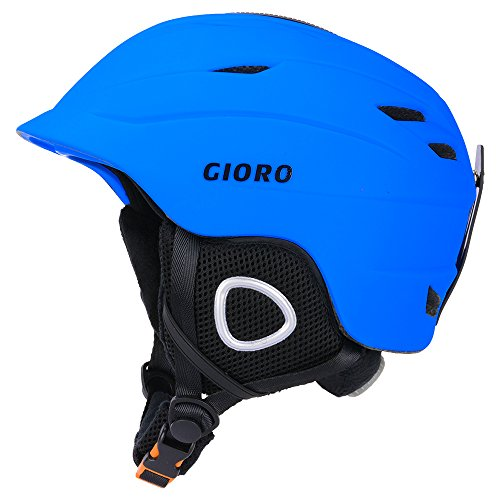 Unisex Lightweight Fleece - GIORO Multi Snow Sports Helmet,Unisex Adult Lightweight Outdoor Skiing Snowboard Helmet with Fleece Liner and Carrying Pouch (Blue, M)