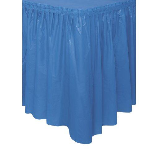 Royal Blue Plastic Table Skirt