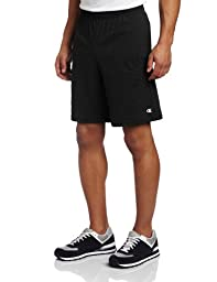Champion Men\'s Jersey Short With Pockets, Black, Large