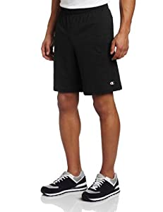 Champion Men's Jersey Short With Pockets, Black, X-Large