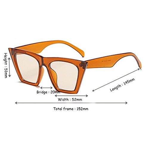 Women Style Aiweijia Eye Oval plástico marco Sunglasses Retro Naranja Vintage Cat Lens 6wxFxaCAdq