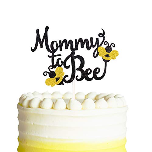 Mommy To Bee Cake Topper, Bumble Bee Baby Shower Banner Gender Reveal Party -