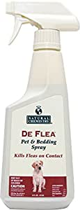 Natural Chemistry De Flea Pet and Bedding Spray for Dogs 16-Ounce