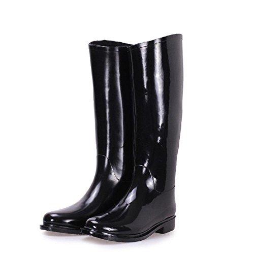 Lluvia Botas Moda Lluvia invierno Black e Otoño Zapatos Señora Caucho x6n085RW