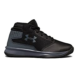 Under Armour Boys' Pre School Jet 2017 Basketball Shoe, Black (001)rhino Gray, 2