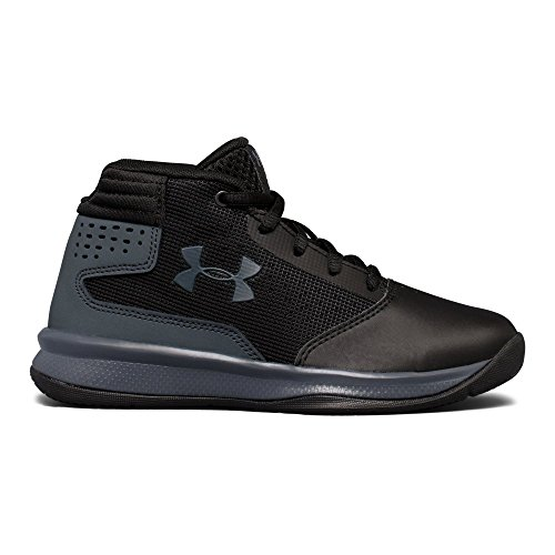 Under Armour Boys' Pre School Jet 2017 Basketball Shoe, Black (001)/Rhino Gray, 2