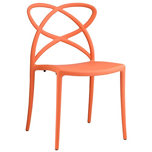 Modway Enact Dining Side Chair, Orange by Modway