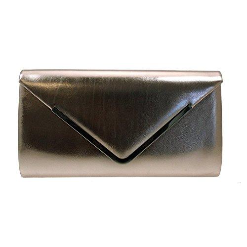 With Navy Metal Lunar Trim Clutch Burgundy Page Patent Bronze Olive Black Olive Bag or q8BI8T