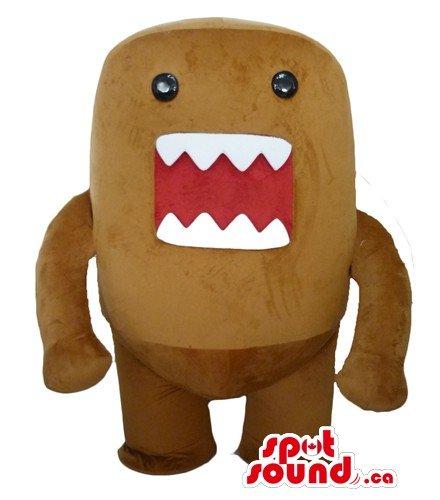 Domo Kun Mascot Costume (Domo kun Plush Doll cartoon character SpotSound Mascot US costume fancy dress)