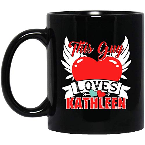 Men's KATHLEEN name funny gift - this guy loves KATHLEEN Mug 11oz (Kathleen's Cookies)