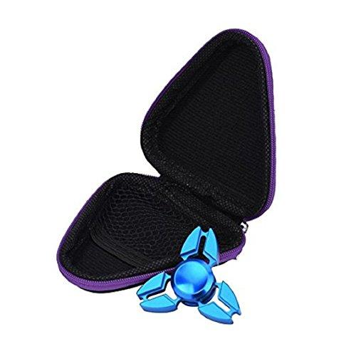 For Fidget Hand Spinner, Ouneed ® Para inquieto mano Spinner triángulo dedo juguete Focus ADHD autismo caja de regalo (Incluir sólo el cuadro) (Azul) Púrpura