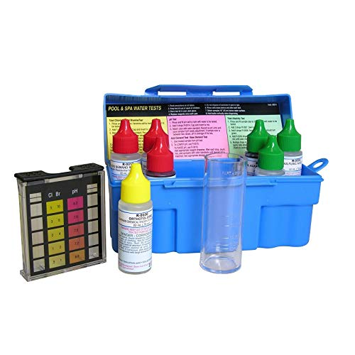 - Taylor Swimming Pool & Spa Water 4-In-1 Chlorine Bromine pH Test Kit | K-1003
