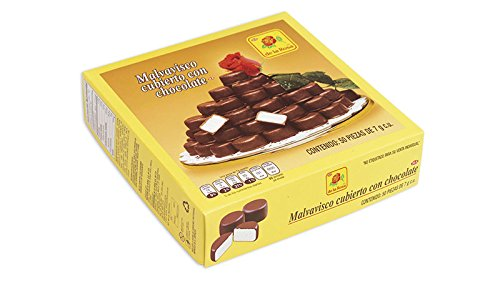 Chocolate Covered Marshmallow De La Rosa 1 Box 50 pieces 12oz Bulk Deal Fancy Coated Mexican Candy Snacks Appetizers