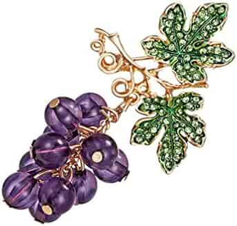 88cf8a58d Myhouse Grape Crystal Brooches For Women Cute Pin Brooch Jewelry Wedding  Bouquet Brooch Jewelry Accessories,