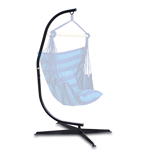 F2C 380LBS Hammock C Stand Hammock Chair Solid Steel Construction Stand for Hanging Hammock Air Porch Swing Chair Indoor Outdoor