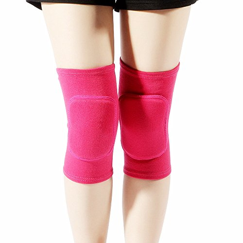 - Adult Child Premium Blue Outdoor Exercise Dance Gardening Soccer Roller Skating Gym Workout Biking Mountaineering Bodybuilding Hike Camp Jogging Tennis Protective Knee Sleeve Pad Support (Rose, M)