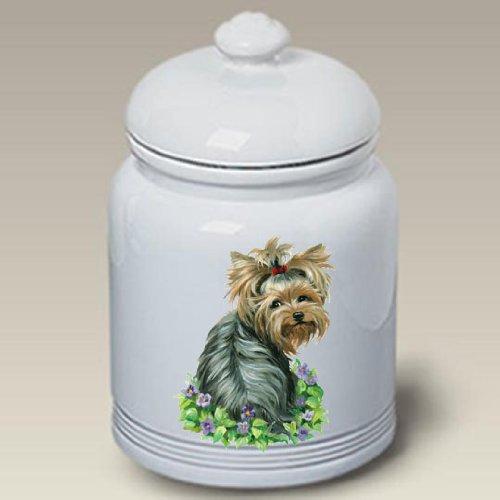 Yorkshire Terrier Dog – Linda Picken Treat Jar, My Pet Supplies