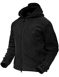 Men 's Windproof Warm Military Tactical Fleece Jacket with Hood