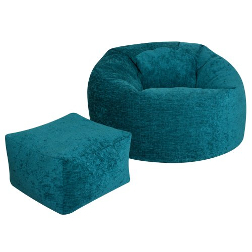 Luxury Textured Chenille Panelled XL Bean Bag TEAL - Large Bags from Bean  Bag Bazaar®: Amazon.co.uk: Kitchen & Home - Luxury Textured Chenille Panelled XL Bean Bag TEAL - Large Bags