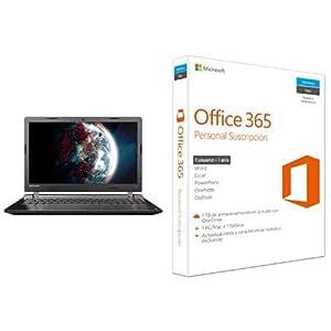 "Lenovo Ideapad 100-15IBD - Portátil de 15.6"" (Intel Core i3-5005U, 4 GB de RAM, 1 TB de disco duro, NVIDIA GT920 2GB, Windows 10 Home + Licencia 1 año Office 365) negro"