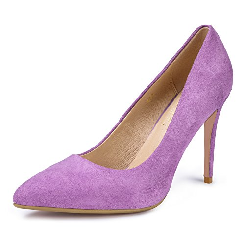IDIFU Women's IN4 Classic Pointed Toe Stiletto High Heel Dress Pump (7 B(M) US, Lavender Suede) ()