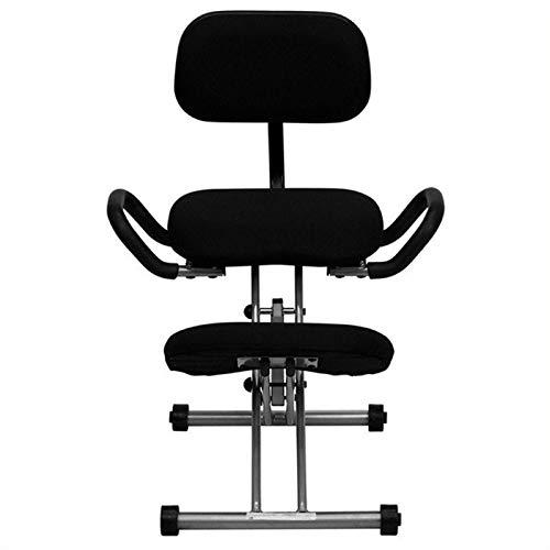 Scranton & Co Ergonomic Kneeling Office Chair in Black Fabric by Scranton & Co