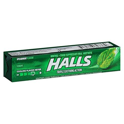 Halls Mentho-Lyptus Drops, Spearmint 9 ea (Pack of 20)