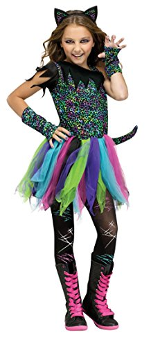 (Fun World Wild Rainbow Cat Costume, Large 12 - 14,)