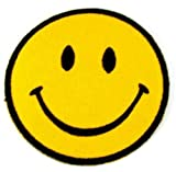 Bags Under Eyes From Smoking Weed 1 X Smiley Happy / Smile Face Logo Badge Iron on Patches (Dia. 2 3/4
