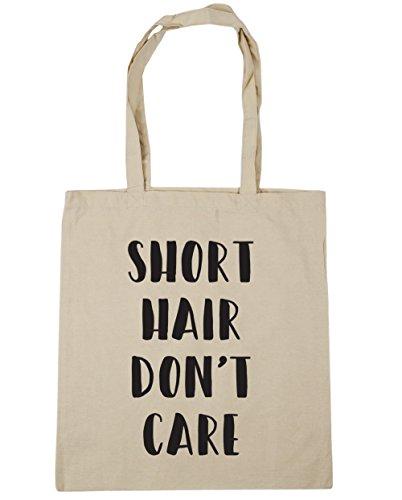 HippoWarehouse Kurze Haare Lied dont´t Care Einkaufstasche Fitnessstudio Strandtasche 42cm x38cm, 10 liter - Natürlich, One size