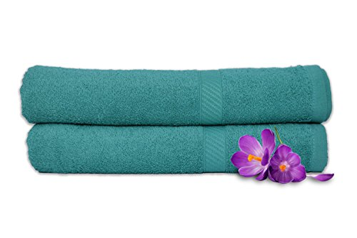 Welhome Snapshot Cotton 2 Pc Bath Towel Set – Jade