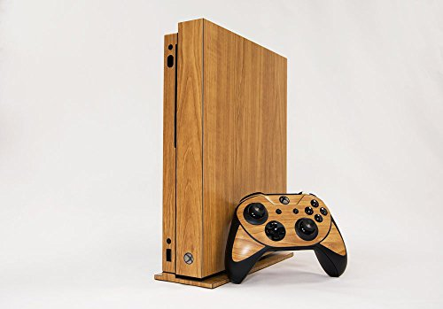 Microsoft Xbox One X Skin (XB1X) - NEW - HONEY OAK WOOD GRAIN - Air Release vinyl decal faceplate mod kit by System Skins
