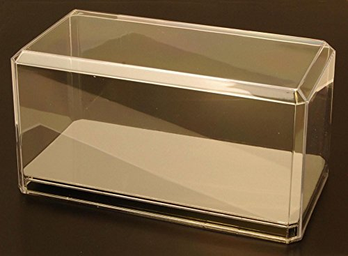 Acrylic Display Case for 1/24 Scale Diecast Model Toy Cars - with mirrored base - (Diecast Acrylic Display)